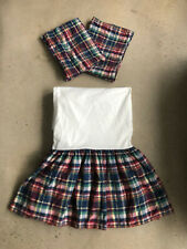 New listing Ralph Lauren Garrison Plaid Bed Skirt And Shams Lot Guc Full Size