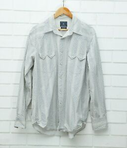 Men's Lucky Brand Long Sleeve Pearl Snap Button up Size Large