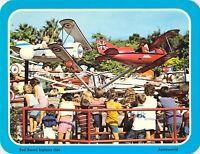 1976 Original ASTROWORLD - RED BARON BIPLANE RIDE 5.25x6.75 postcard