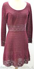Damzels Doll Factory Women's SZ M lace loose crochet Distressed Dress boho $180