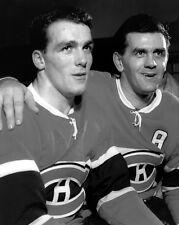 Montreal Canadiens HENRI & MAURICE RICHARD Glossy 8x10 Hockey Photo Print Poster