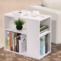 Coffee Tray Side Sofa Table Modern Couch Room Console Stand End Bookcase White