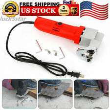110V Electric Sheet Metal Shear Tin Snips Cutter Nibbler hand-held Power Tool US