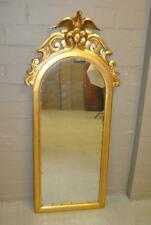 """Arched Gold Leaf Carved Wood Eagle Mirror 62 1/2"""" Tall"""