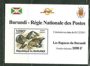 BURUNDI 863 MNH SOUVENIR SHEET BIRDS OF PREY; PANDION HALIACTUS SCV 3.75