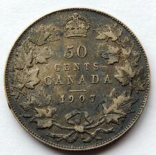 1907 Canada 50 Cents Silver Coin  SB4883