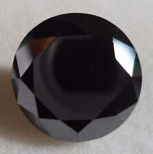 DIAMANTE NATURALE CT.11.50 TAGLIO BRILLANTE BLACK MM. 15.45 X 9.00 X 15.45