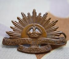 Australian Commonwealth Military Forces Rising Sun Shoulder Title Pin (Lot K)