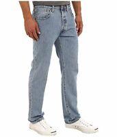 NWT Men's Levi's 501 Original Fit JEANS 005010134 Light  Stonewash Choose Size