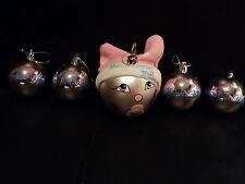 """lot de boules de noel """"mon premier Noël"""" fille"""