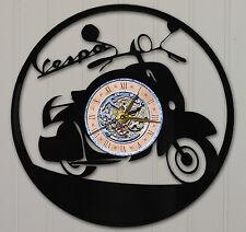 VESPA LASER CUT VINYL LP RECORD WALL CLOCK FREE SHIPPING