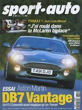 SPORT AUTO n°451 Août 1999 F1 MAC LAREN biplace ASTON MARTIN DB7