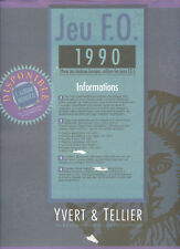 FRANCE 1990  FEUILLES COMPLEMENTAIRES YVERT ET TELLIER JEU FO