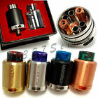 Kennedy 24 V2 New 2 Posts Deck RDA RBA Pyrex Glass Cap Resin Drip Tip US Seller