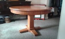 "48"" Mission-Style Pedestal Cherry Dining Table"