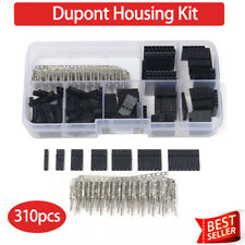 310x Dupont Wire Cable Jumper Pin Header Connector Housing Kit Crimp Pins 2.54mm