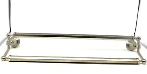 "Kohler Pinstripe 24"" Double Towel Bar -Vibrant Brushed Nickel"