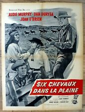 french poster 60 x 80 western SIX BLACK HORSES, AUDIE MURPHY, DAN DURYEA
