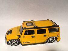 2004 Jada Dub City #083 2003 Hummer H2 Yellow Preproduction Prototype