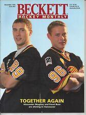 Vintage Mogilny & Pavel Bure Cover Beckett NHL Price Guide Nov, 1995 Shanahan BK