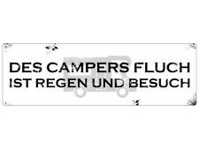 Blechschild METALLSCHILD Türschild DES CAMPERS FLUCH Retro Dekoschild Camping Wo