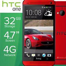 Nueva condición HTC One M7 - 32GB-Rojo (Desbloqueado) Teléfono Inteligente