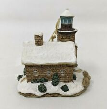1996 Harbour Lights Sand Island Wisconsin Wi Lighthouse Christmas Ornament Fw20