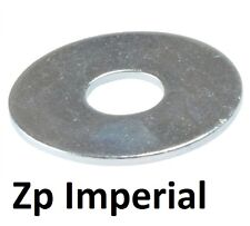 """Qty 100 Mudguard Washer 3/8"""" x 1.1/4 x 16g Imperial Steel Zinc Plated ZP Fender"""