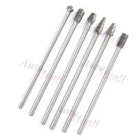 "6pcs 10mm Rotary Aluminum Cut Burr 6mm 1/4"" Shank 150mm Long Reach Carbide Burs"