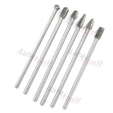 "6pcs 10mm Rotary Aluminum Cut Burr 6mm 1/4"" Shank 150mm Long Reach Carbide Burs"