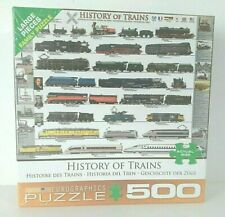 History of Trains EuroGraphics Jigsaw Puzzle 500 Piece New Large Pieces