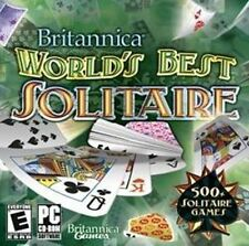Britannica World's Best Solitaire  500+ Solitaire Games  XP Vista 7  New CD