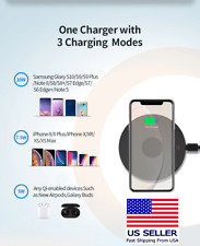 10W Qi Wireless Fast Charging Pad for iPhone 11 Pro XS Samsung S9 S10 USA Seller