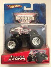 Hot Wheels Monster Jam Truck SCARLET BANDIT #8 Red/Black Diecast 1/64 Scale 2005