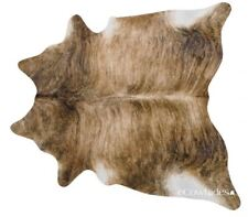 Brindle Brazilian Cowhide Rug Cow Hide Area Rugs Skin Leather Size XL