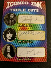 Iconic ink triple cuts (Jimi Hendrix Jim Morrison Janis Joplin) Facsimile Auto