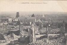 CLERMONT-EN-ARGONNE MEUSE GUERRE 14-18 WW1 2 ruines