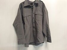 CLIFTON SUPER SHIRT LEO POLICE CORRECTION SECURITY OFFICER ZIP LS SHIRT 19.5x36