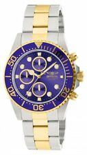 Invicta 1773 Men's Pro Diver Two Tone Blue Dial Coin Edge Bezel Chronograp Watch