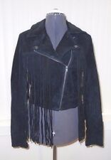PacSun PS Erin Wasson Black Suede Fringe Western Moto Jacket M/Medium NWT S/O