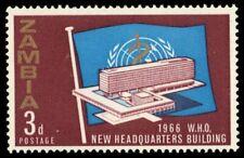 ZAMBIA 26 (SG116) - World Health Organization Headquarters (pf95141)