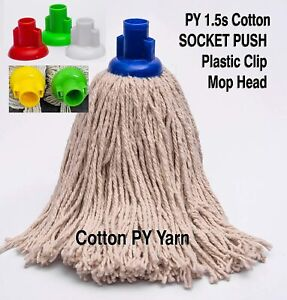 Heavy Duty Replacement Cotton Floor Mop Head 6pk Jumbo Size 400g Assorted Colour