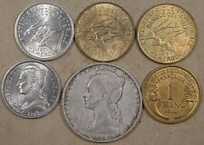 French Colonial Africa 6 Coins 1944-71 Mid Grade-BU as Pictured