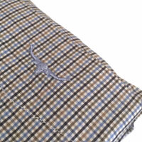 New RM WILLIAMS Mens Size 4XB Collins Long Sleeve Shirt Blue Beige Check RRP$139