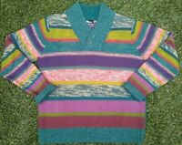 Desigual Brand Men's V Neck I Have A Dream Today Sweater Size XL
