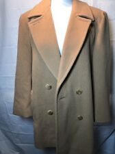 Pendleton Double Breasted Women's Coat Camel Brown Size 8 100% Virgin Wool