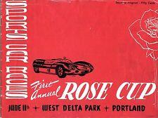 1961 Portland Rose Cup Race Jerry Grant Ferrari 250 TR59 Wins Road Race Program