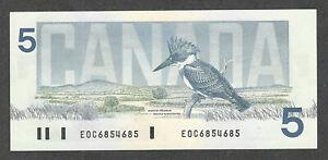 "1986 $5.00 "" 6854685 "" SCARCE Serial # 4-Digit REPEATER Canada QEII Five Dollars"
