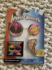 Power Rangers Accessory Set - 2 Sticker Patches, 1 Button and 1 Pin