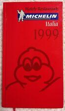 Guia Michelin Italia 1999 , COMO NUEVA , guide guida